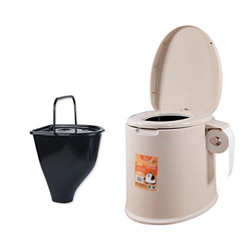 Chaise Commode Léger et Portable Camping Toilette Convient pour Les Voyages de Vacances (Couleur : Marron)
