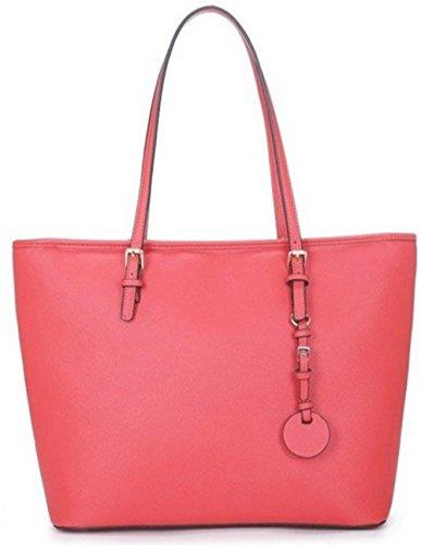 LeahWard® Essener Schultertaschen Größe Handtaschen Groß Schultertasche Damen Große Übermaß Damen 40x16x29cm 362 Mode Einkaufstasche Rot pwRrpq