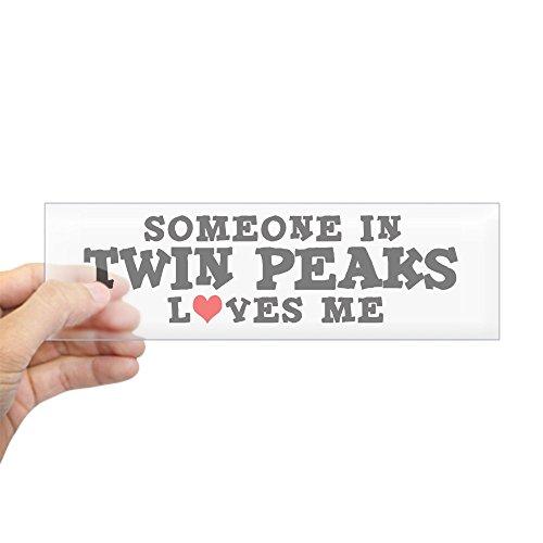 Preisvergleich Produktbild CafePress Twin Peaks: Loves me Bumper Aufkleber–25,4x 7,6cm Rechteck Bumper Aufkleber Auto Aufkleber Standard Farblos