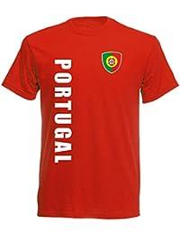 Name Portugal  KINDER  T-Shirt Trikot Rot Nr inkl EM 2016 Fußball