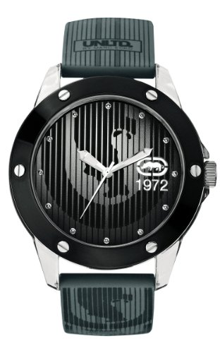 Marc Ecko Herren Datum klassisch Quarz Uhr mit Silikon Armband E09520G4 (Ecko Uhr)