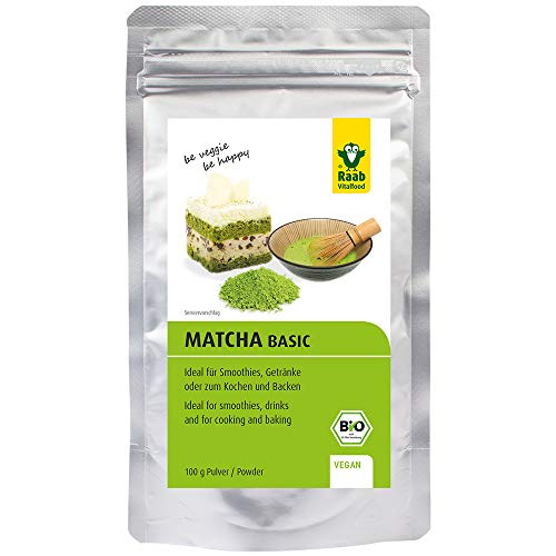 Raab Vitalfood Bio Matcha for Cooking, Backen, Kitchen, Grüntee Pulver aus Japan, grüner Tee, 100 g