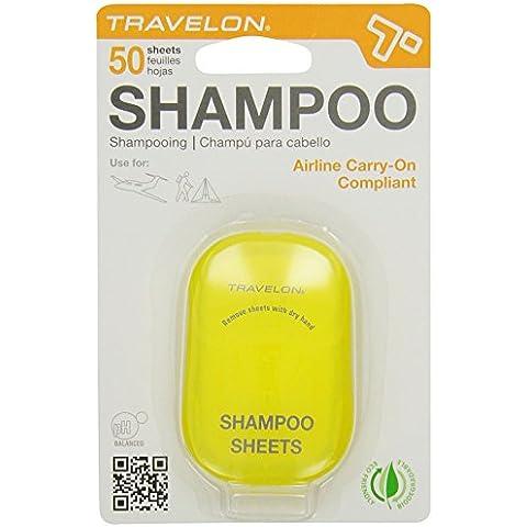 Travelon - Fogli da toilette Shampoo,