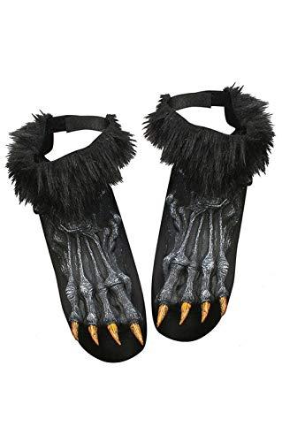 Horror-Shop Schwarze Werwolf Füße (Werwolf Kostüme Füße)