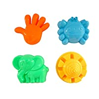 YBWZH 7Pcs Beach Toys Castle Bucket Spade Shovel Rake Water Tools Colorful Sand Beach Toys For Kids