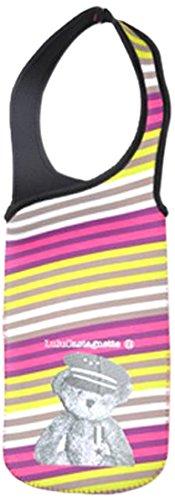 lulu-castagnette-5gla021ll-funda-refrigerante-para-botella-14-x-38-cm-color-rosa-amarillo-y-gris
