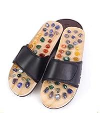 a68de81fc6268 Yingsssq Pantofole per Massaggi Naturali Estivi Riflessologia Plantare Calzature  per Piedi Massaggiatore Sandali Pantofole per agopuntura