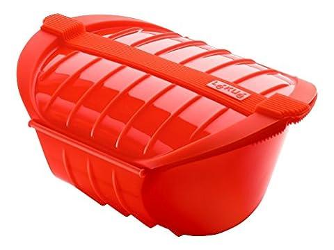 Lékué 3407600R10U004 Dampfbox Ogya XL rot