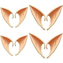 Xinlie Orejas de Elfo Orejas de látex Orejas de látex Colores de la Piel para Halloween