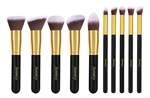 10 PCS Pro outil maquillage cosmétique ensemble fard à joues brosses fard à paupières Trousse Pochette