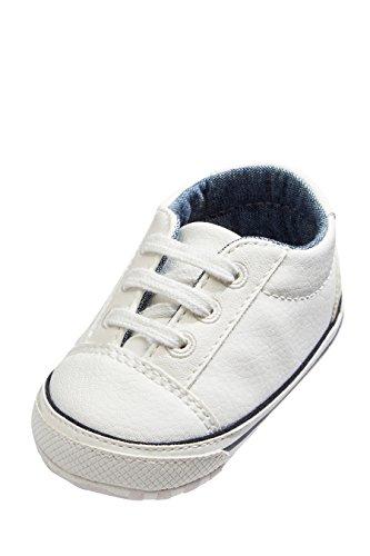 next Bebé Niño Zapatos con Cordones Para Carrito (Niño Pequeño) Blanco 6-12 Meses