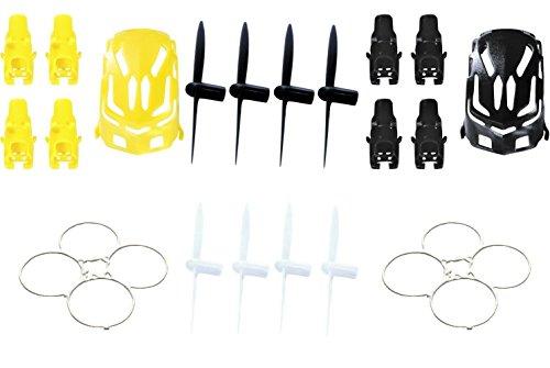 estes-proto-x-qty-1-nano-body-shell-h111-01-black-quadcopter-frame-w-motor-supports-qty-1-yellow-qty