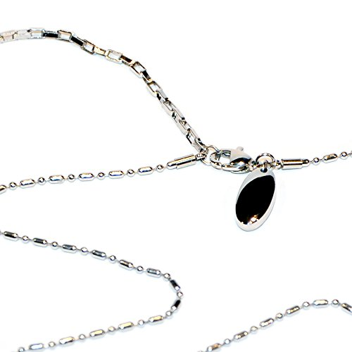 Glieder Edelstahl Halskette Energetix 4you 537 Uni Silber mit Magnetix Magnetanhänger 419 Magnetschmuck Länge universal 38,5-46,5 cm