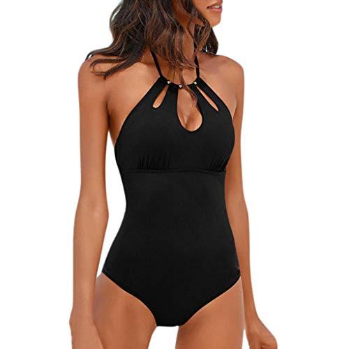 8d6c9c8a4e4b Bcfuda 2019 Donna Sexy Costume da Bagno Bikini Costumi da Bagno Intero  Vuoto Intero Set Nappa