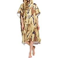 laamei adulto unisex poncho con cappuccio mimetico militare strato  asciugamano da bagno estate vestiti spiaggia Accappatoio 09dc81dc0ad6