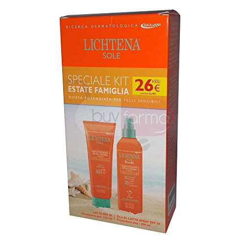 Spf 30 Kinder-spray (Solar Lichtena – Milch SPF 30 + Kinder Milch Spray SPF 30 – Special Family Kit)