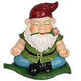 CCOQUS Zen Gartenzwerg Gartenstatue, Yoga-Zwergfigur, für den Außenbereich, Rasen, Terrasse, Fee, Garten, Dekoration - Home Office, Tolles lustiges Geschenk rot
