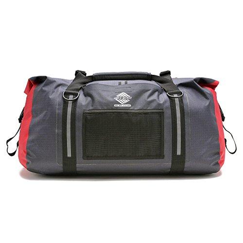 Aqua Quest WHITE WATER Sac Marin - 100% Imperméable - 50 L - Charbon / Rouge / Noir