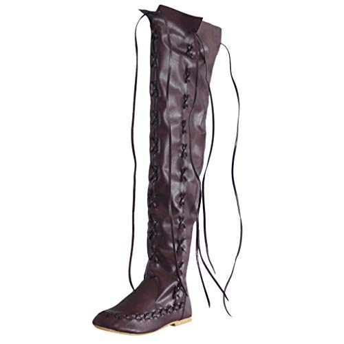 Serria® Klassische runde Form mit niedrigen Absätzen für Damen Schnürschuhe Bestickter Western-Stiefel -