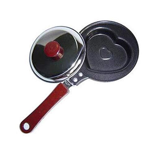 Prima05Sally Mini Ei gebraten Pfanne kreative Form Frühstück Pfannkuchen Pfanne Antihaft-CookwareLove Abschnitt (Star Pfannkuchen Formen)