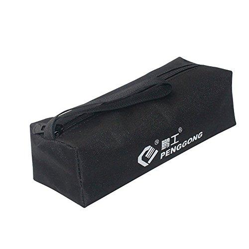Bluelans® tragbar Wasserdicht Hardware Parts Container Bag Tools Organizer Tasche, Schwarz, 24cm x 8.5cm x 7cm/9.45