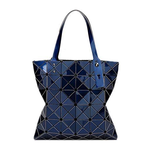 Geometrische Diamant-Gitter-Einkaufs-Faltende Tasche der Farbjapaner-Frauen 15