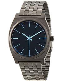 Nixon Time Teller Gunmetal/Blue Crystal A0451427-00 - Reloj analógico de cuarzo para