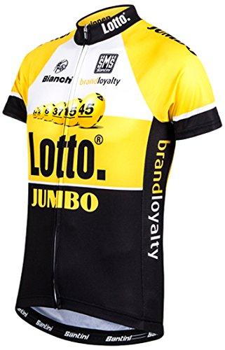 Santini Replica Team Original Lotto Jumbo Aero Short Sleeve Jersey XS schwarz (Replica Jersey Team)