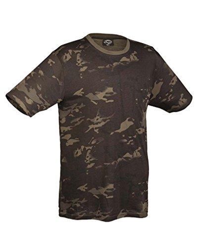 Mil-Tec Herren Nva Strichtarn T-Shirt multitarn black