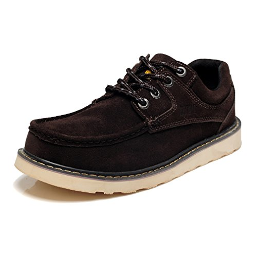 iLory Mens Casual Lace Up Boat shoes Suede Leather Walking Outdoor Moc...