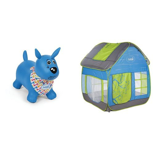 Ludi - 2776 - Mon Chien Sauteur - Bleu + Ludi - 5210 - Maison Cottage - Tente De Jardin