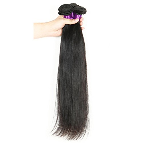 Laixing 1 Bundle Silky Straight Haar Weft Human Hair Extensions Natural Color -