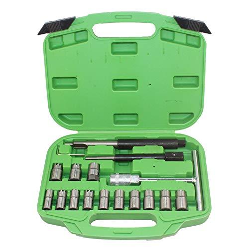Kit 17PC Diesel Injector Seal Cutter utensili speciali iniettori sede inietto