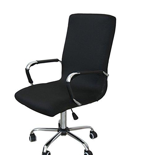 Computer-stuhl Armlehnen Mit (Gaeruite Stuhlhusse Bürostuhl Schreibtischstuhl Drehstuhl Bezüge ,Dehnbar Rotierenden Sessel Cover Schonbezug (M, Black))