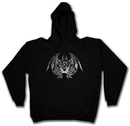 CTHULHU V HOODIE HOODED PULLOVER SWEATER SWEATSHIRT MAGLIONE FELPE CON CAPPUCCIO - Sizes S - 2XL Nero