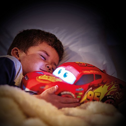 Image of Disney 257CAA01EM Cars Lightning McQueen Plush Pal Night Light Soft Toy by Go Glow