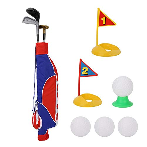 Alomejor Ensemble de Jouets de Golf pour Enfants, Jeu de Golf Mini Golf Extérieur Jardin pour Enfants