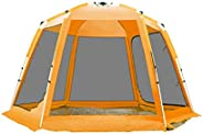 Charhoden SQ-092-O Camping tent, double-layer outdoor 8-12 people pergola telescopic aluminum alloy camping eq