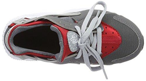 Nike Jungen Huarache Run Ps Laufschuhe für Das Training auf Der Straße, Bianco Multicolore (Dark Grey/Wolf Grey/Gym Red/White)