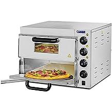 Royal Catering Forno per Pizza (2 Camere di Cottura, 230 V, 3000 W) Acciaio inox, Pietra refrattaria chamotte