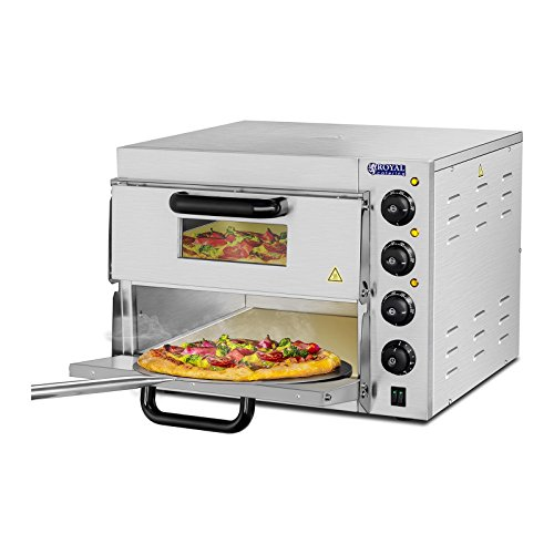 Royal Catering - RCPO-3000-2PS-1 - Horno para Pizza - 2 compartimientos