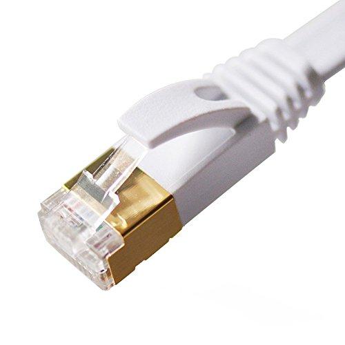Ethernet Kabel, Youmi CAT 7 LAN Netzwerkkabel RJ45, hoch flat Geschwindigkeit bis zu 10 Gbps / 600 MHz mit Gold plattiert für Switch / Router / Modem / Latop/Patch-Panels (20M) (Ethernet Fast Wan High-speed)