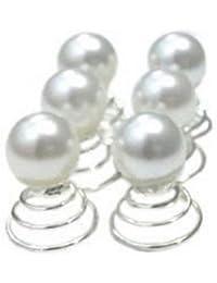 pic-chignon boda Twister Curlie perla blanca (lote de 3)
