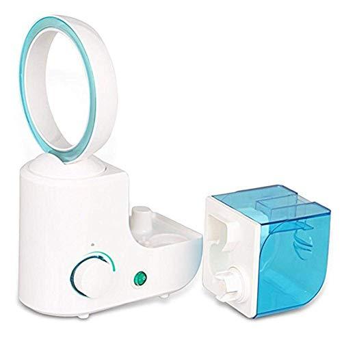Bblank Bladeless Befeuchter Ventilator Mute Befeuchter Bladeless Fan-Tisch-Fans Mit Nebel-Fan Ultraschall-Kreis,Blue