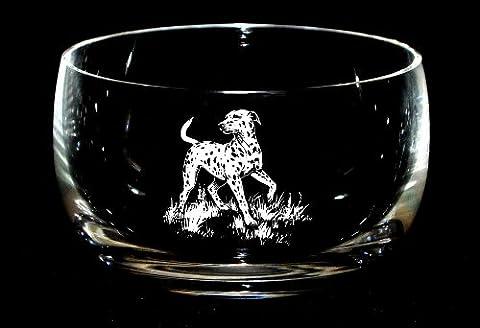 DALMATIAN Dog Crystal Glass 12.5cm Bowl Dog Gift