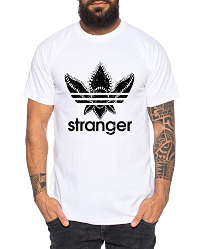 Stranger Camiseta de Hombre Cool Fun-Shirt, Größe2:Medium, Farbe2:Blanco