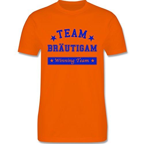 JGA Junggesellenabschied - Team Bräutigam Winning Team - Herren Premium T-Shirt Orange