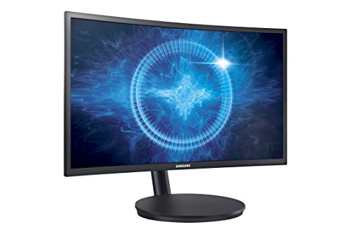 Samsung 23.5 inch (59.8 cm) Curved Gaming LED Backlit Computer Monitor - Full HD, VA Panel with VGA, HDMI, DP, Audio Ports - LC24FG70FQ (Black)