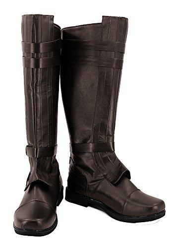 Star Wars Anakin Skywalker Stiefel Karneval Schuhe Damen Cosplay Boots 39 (Stiefel Wars Star)
