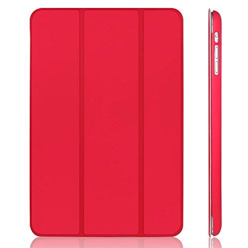 JETech Hülle für Apple iPad mini 3 iPad mini 2 iPad mini, Licht und Dünn Schutzhülle mit Ständer Funktion und Auto Einschlafen/Aufwachen, Rot (Apple Ipad Mini 2 Case)